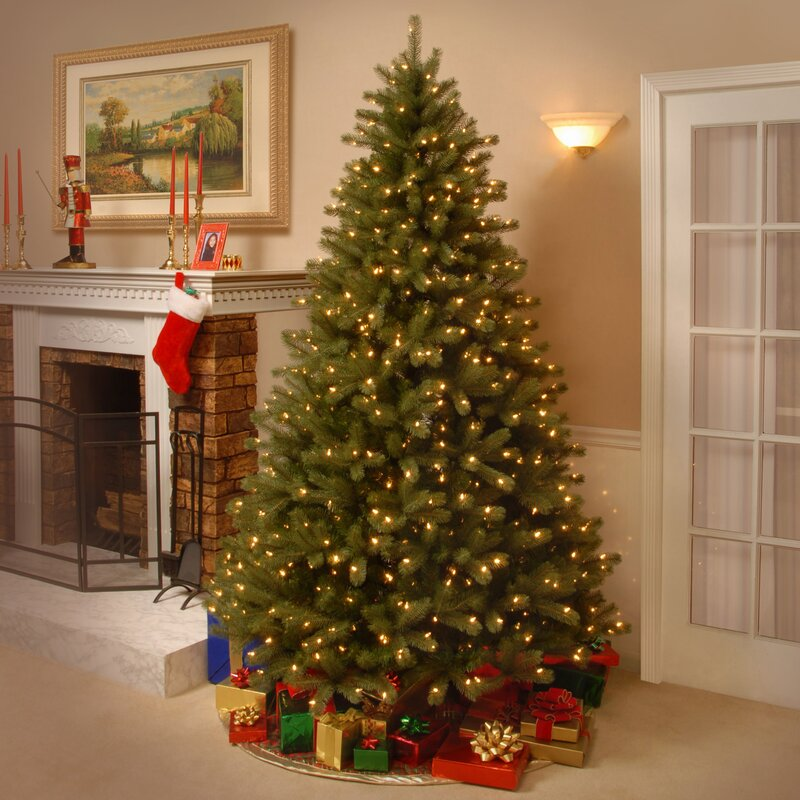 Green And White Christmas Tree: National Tree Co. Lakewood 7.5' Green Spruce Artificial