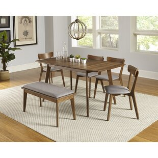 Rockaway 6 Piece Extendable Solid Wood Dining Set  sc 1 st  AllModern : cheap dinning room table - amorenlinea.org