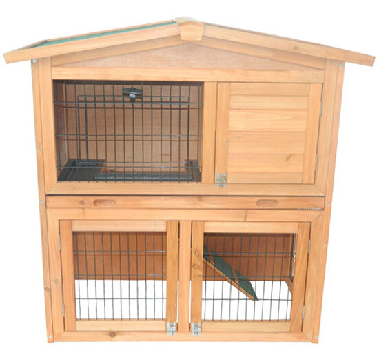 Tucker Murphy Pet Hardy 40 Wooden Rabbit Hutch Small Animal House Cage Reviews Wayfair