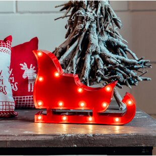 Red Sled Lamp by Marquee Lights