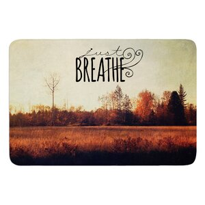 Just Breathe by Sylvia Cook Bath Mat