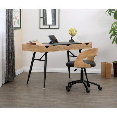 Nook Multi Storage Desk Calico Designs Color (Top/Frame): Ashwood/Black