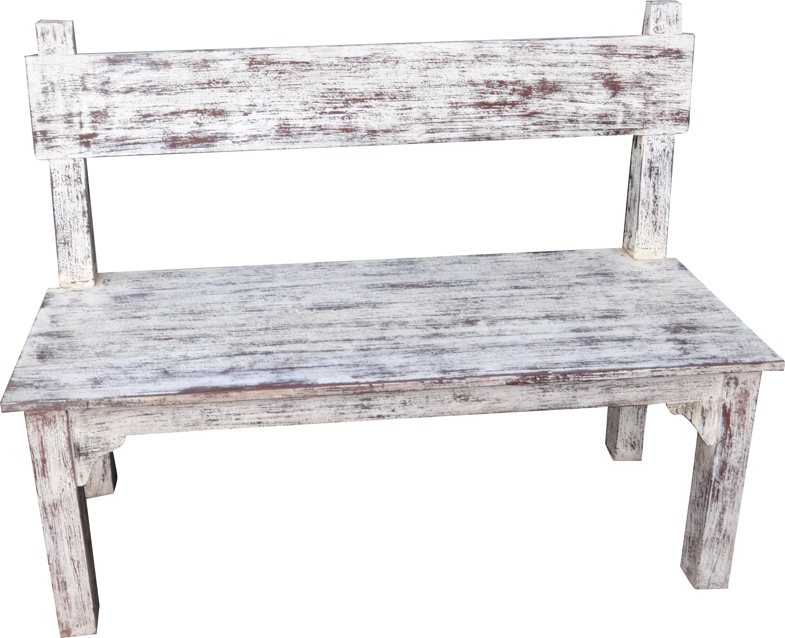 Home Loft Concept Rustic Open Back Wooden Bench Reviews