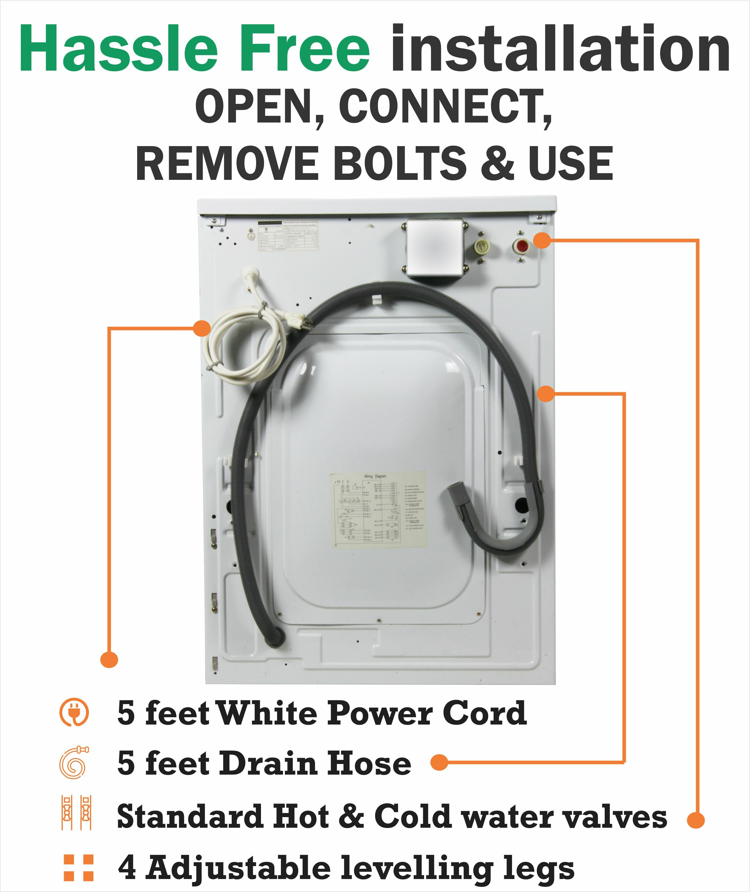 Equator 16 Cu Ft High Efficiency All In One Combo Washer And Wiring Diagram For 3 Prong Dryer Outlet Get Free Image About Electric Wayfair