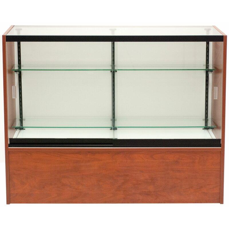 Kc Store Fixtures Front Opening Glass Showcase Wayfair