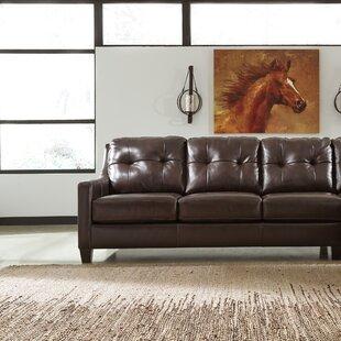 Stouffer Left Hand Facing Leather Sleeper Sofa