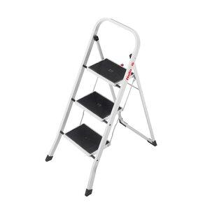 K20 3-Step Steel Step Stool with 159kg Load Capacity