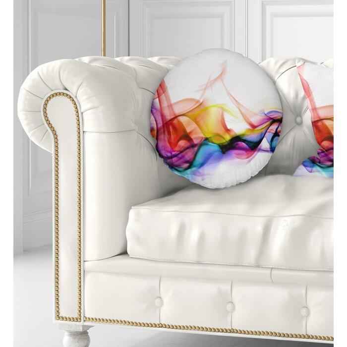 East Urban Home Abstract Smoke Contemporary Throw Pillow   Wayfair