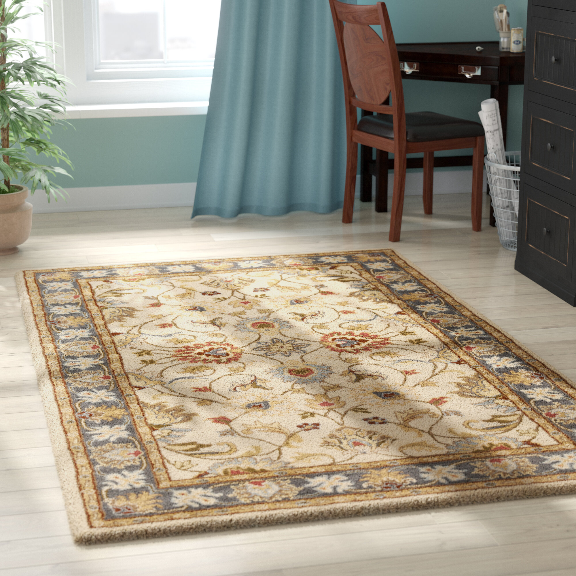 Birch Lane Heritage Aaron Hand Tufted Wool Yellow Brown Area Rug