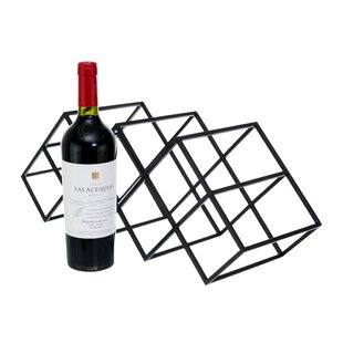 Mayna Geometric 7 Bottles Tabletop Wine Bottle Rack