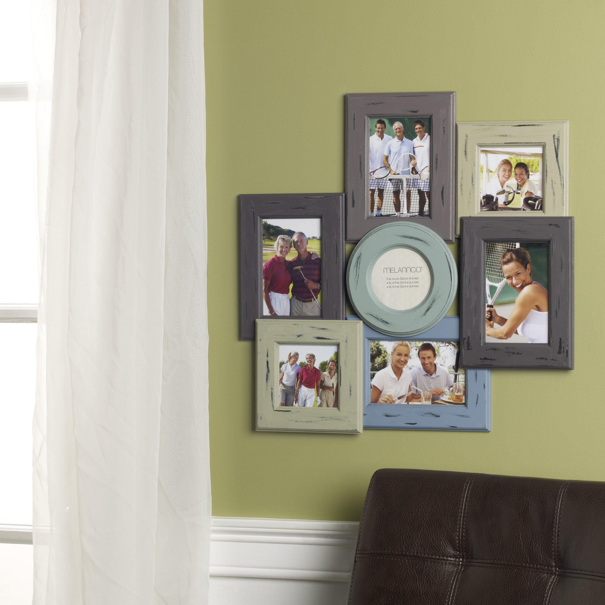 August Grove 7 Opening Distressed Wood Collage Frame Reviews Wayfair