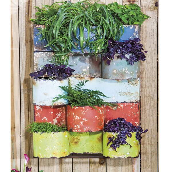 Metal Wall Planter evergreen enterprises, inc metal wall planter & reviews | wayfair