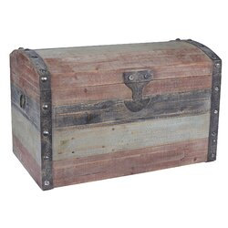 Nice Household Essentials Large Weathered Wooden Storage Trunk U0026 Reviews |  Wayfair