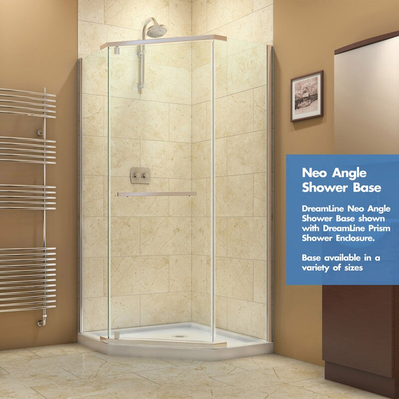 corner shower base showers bases hinged enclosure drain are dreamline good