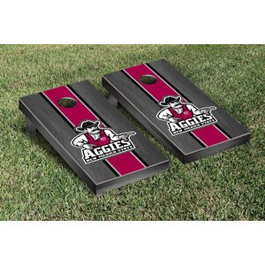 NCAA Stained Striped Wooden Cornhole Game Set