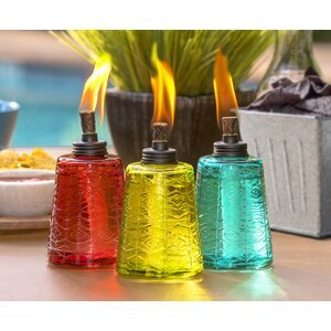 Glass Tabletop torch (Set of 3)