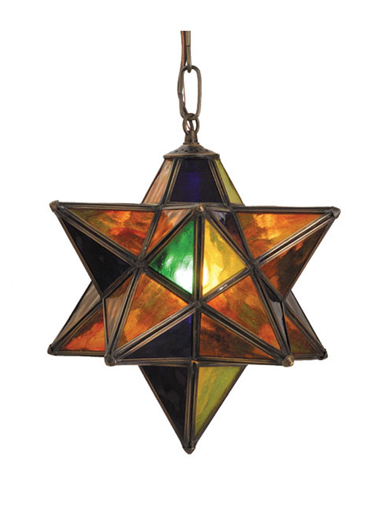 Moravian star 1 light geometric pendant