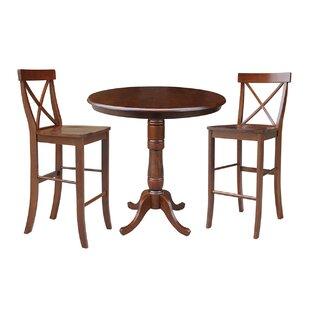 Dingler 3 Piece Pub Table Set Reviews