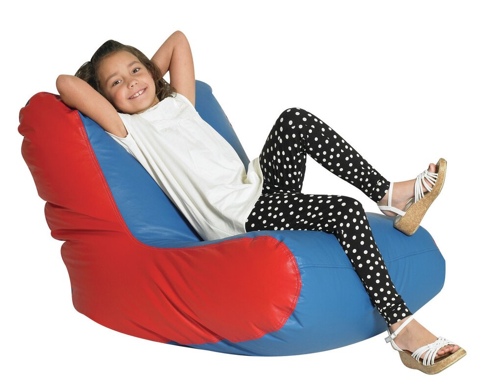 Children 39 s factory child 39 s bean bag chaise lounge for Bean bag chaise longue