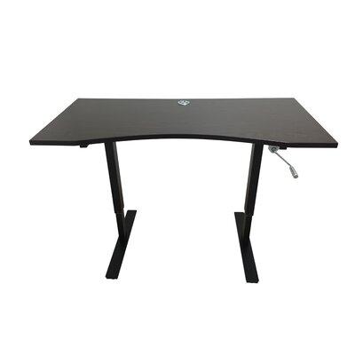 Crank Standing Desk Ergomax Office Finish: Dark Brown
