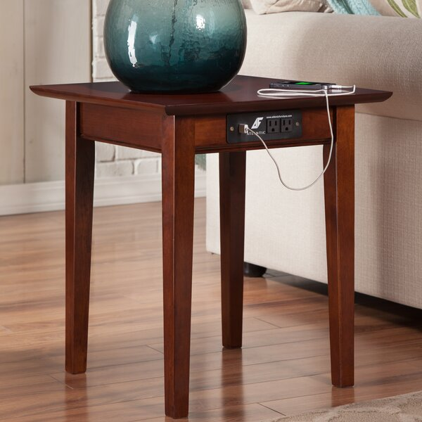 Charlton Home Ithaca End Table With Charging Station Reviews Wayfair