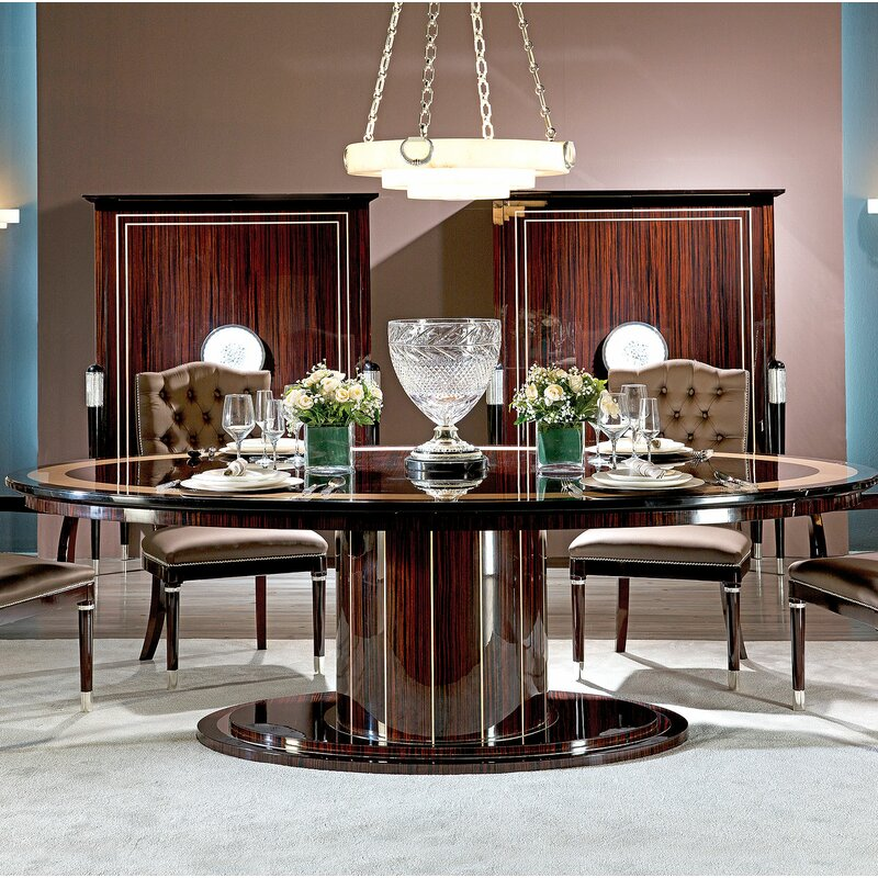 David Michael Extendable Dining Table Perigold