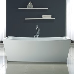 Rectangular Freestanding Bathtubs Youll Love Wayfair - Rectangular freestanding soaking tub