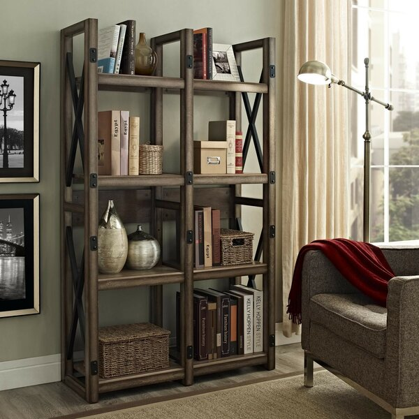 Laurel Foundry Modern Farmhouse Gladstone Etagere Bookcase
