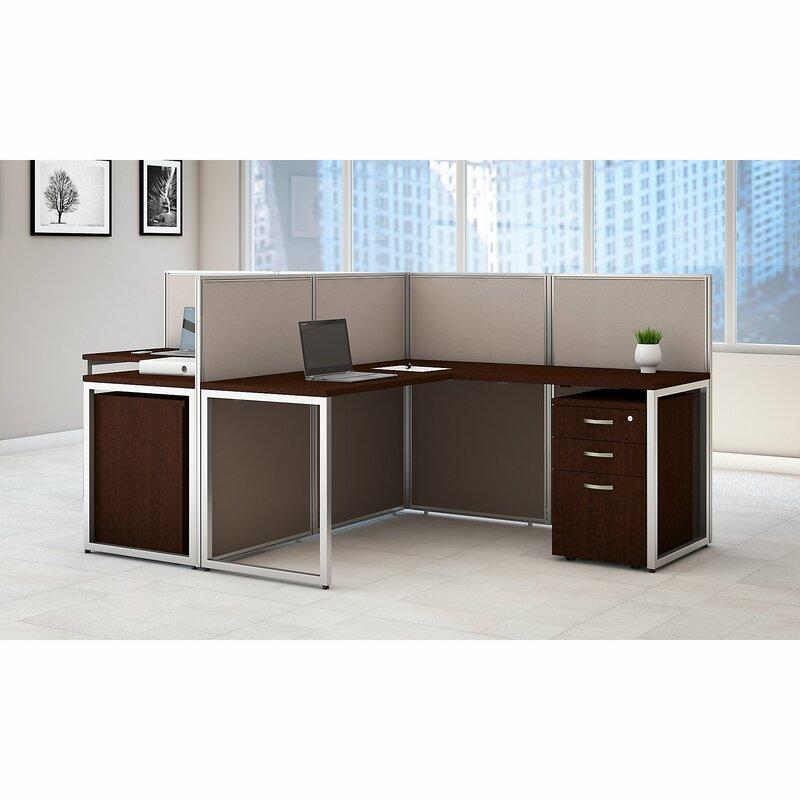 Modular Kenya Project Simple L Shaped Small Kitchen: Bush Business Furniture Easy Office 60W L-Shape Desk Open