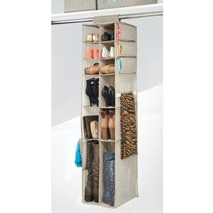 16 Compartment 12 Pair Hanging Shoe Organizer