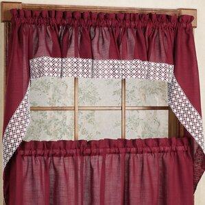 Salem Kitchen Swag Curtain Valance (Set Of 2)