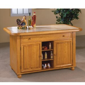 Lockwood Kitchen Island with Ceramic Tile Top by..