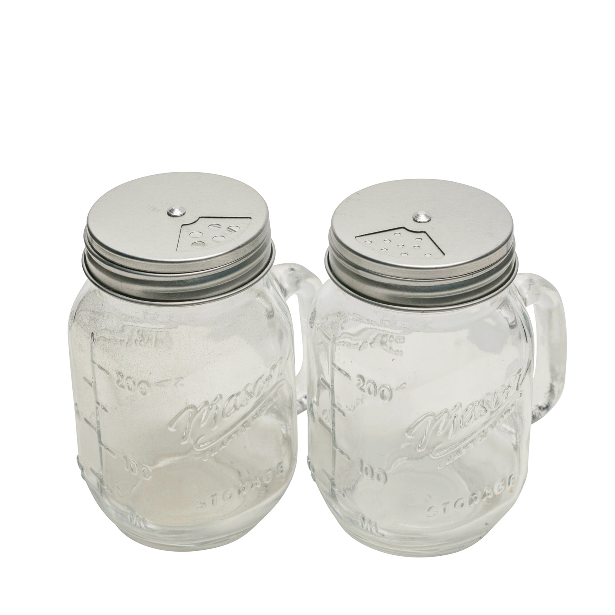 8 Oz Glass Salt & Pepper Shaker Set