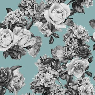 Mary Removable 5 X 20 Floral Wallpaper
