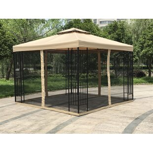 Bon Double Roof 10 Ft. W X 10 Ft. D Steel Patio Gazebo