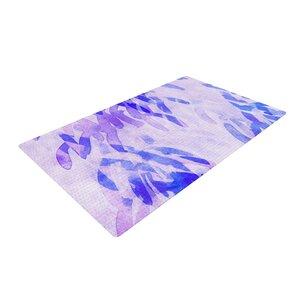 Iris Lehnhardt Abstract Leaves III Blue/Purple Area Rug