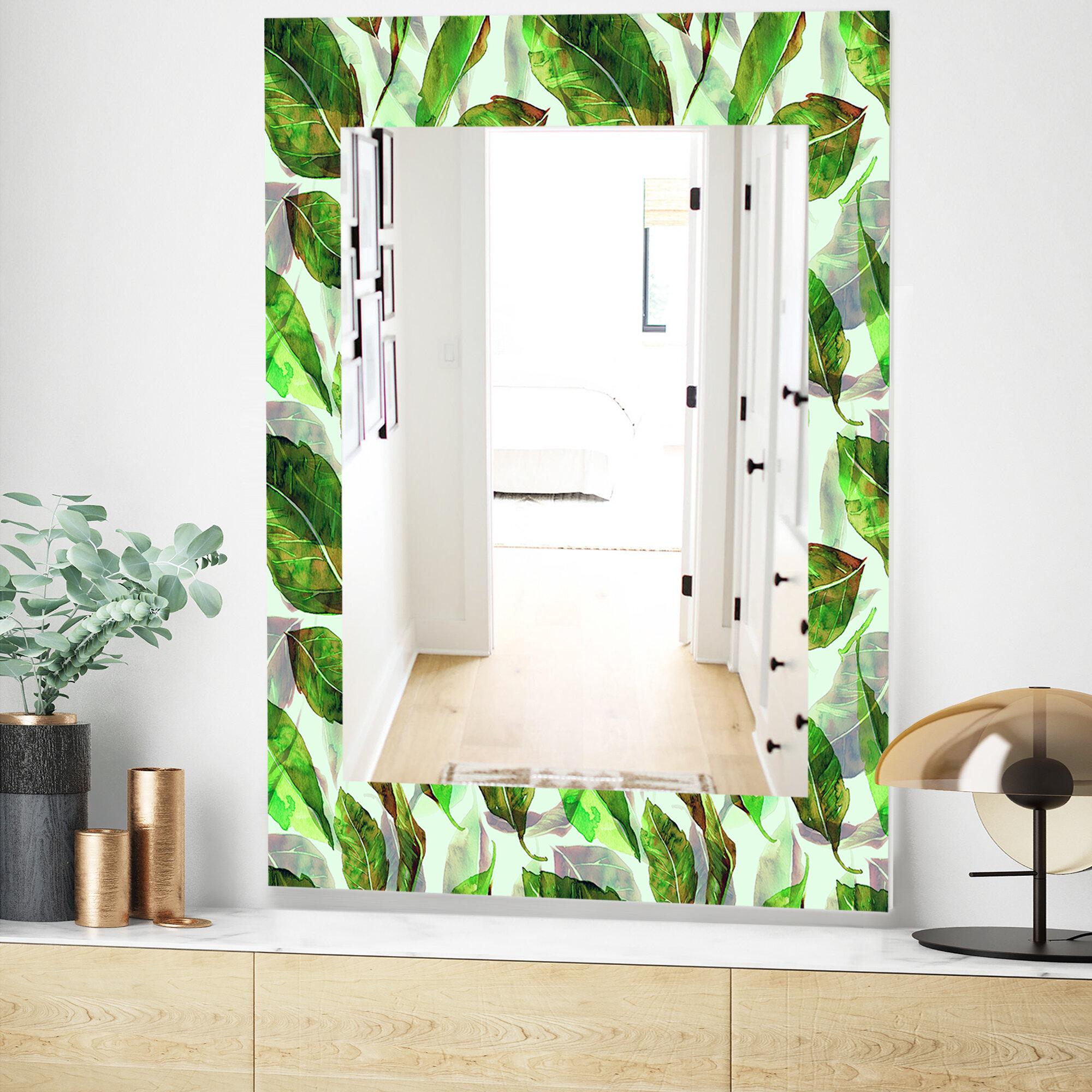East Urban Home Tropical Mood Foliage 10 Modern Frameless