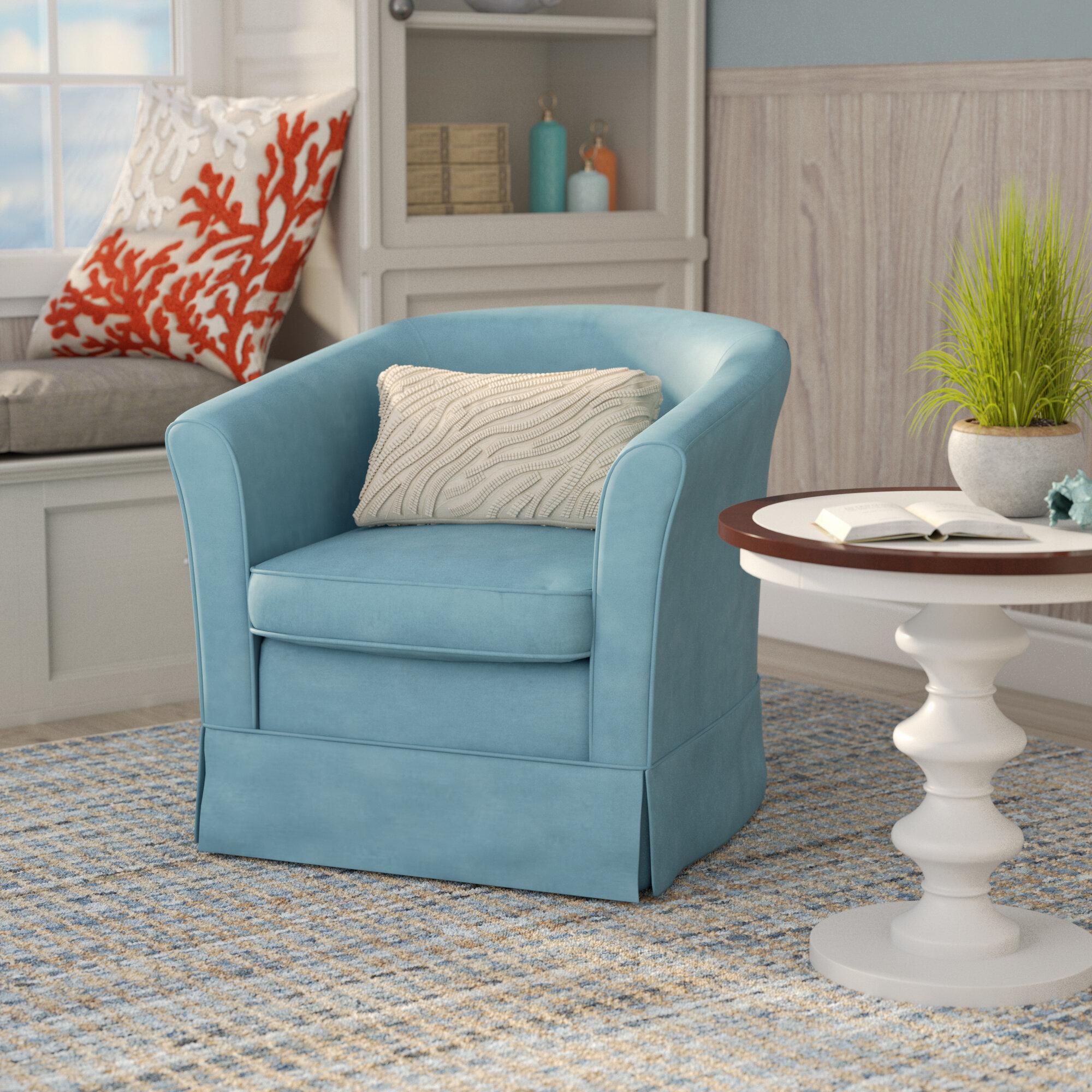 Laurel Foundry Modern Farmhouse Sevan Swivel Barrel Chair Reviews Wayfair