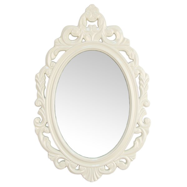 Baroque Wall Mirror viv + rae alissa accent baroque oval wall mirror & reviews | wayfair
