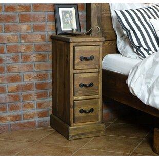 Very narrow bedside tables wayfair rustikal 3 drawer bedside table watchthetrailerfo