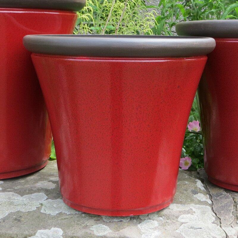 Sol 72 Outdoor Hallandale Stone Plant Pot Reviews Wayfair Co Uk