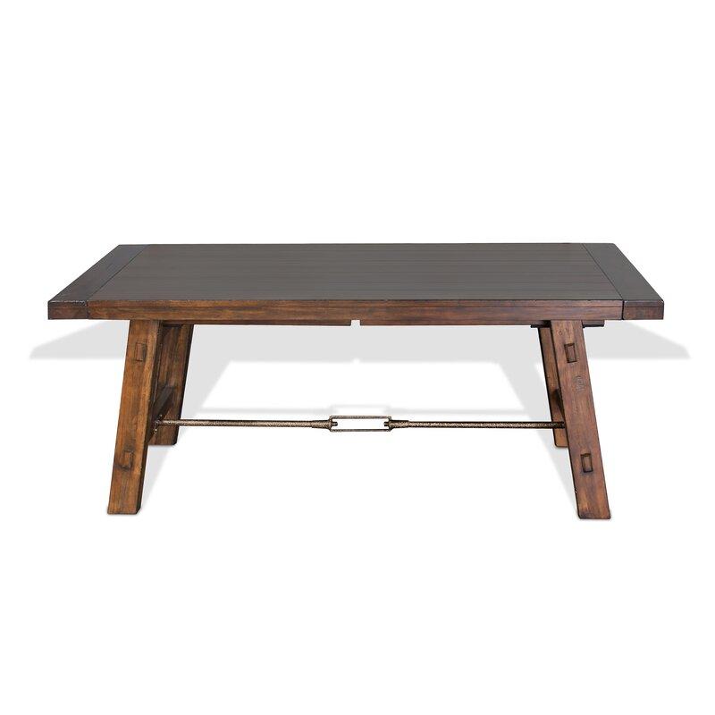 Loon Peak Hardin Extendable Solid Wood Dining Table