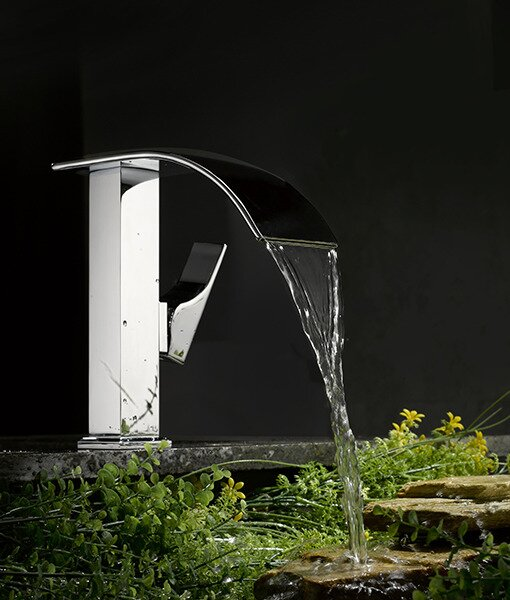 Bathroom Waterfall Faucet kokols single handle single hole bathroom waterfall faucet