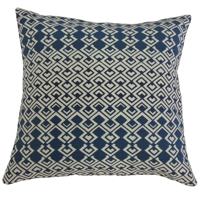 Betsy Drake NC136 Blue Koi No Cord Pillow 16 x20