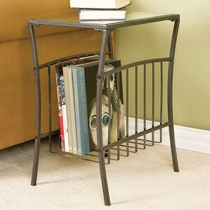 Ellyn End Table With Magazine Storage