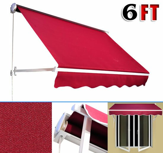 Outsunny Outsunny 6 Ft W X 5 Ft D Window Awning