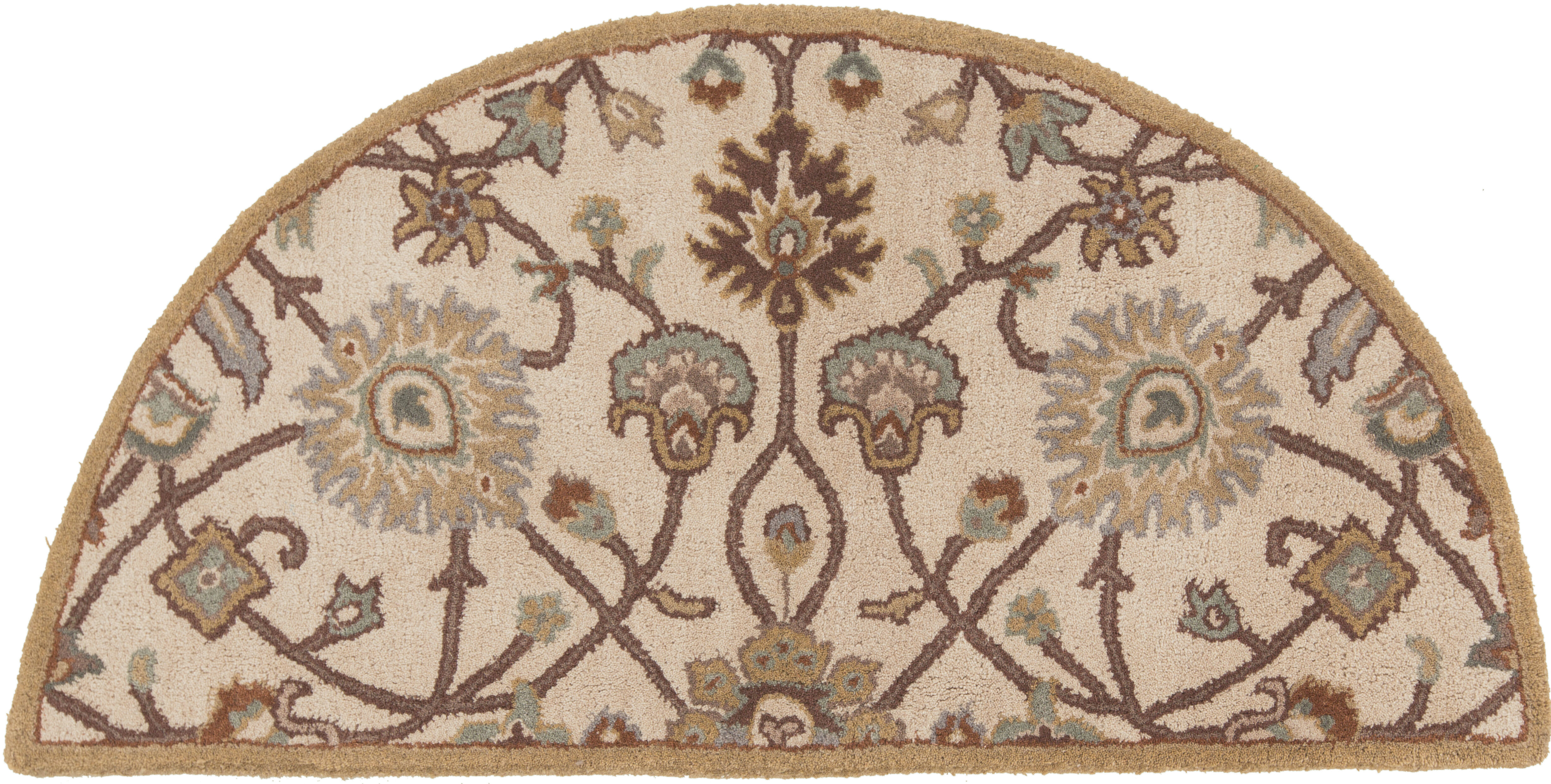 World Menagerie Graziani Hand Woven Wool Beige Area Rug
