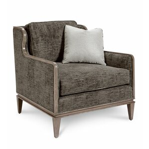 Alvina Graphite Scoop Wingback Chair by Grac..