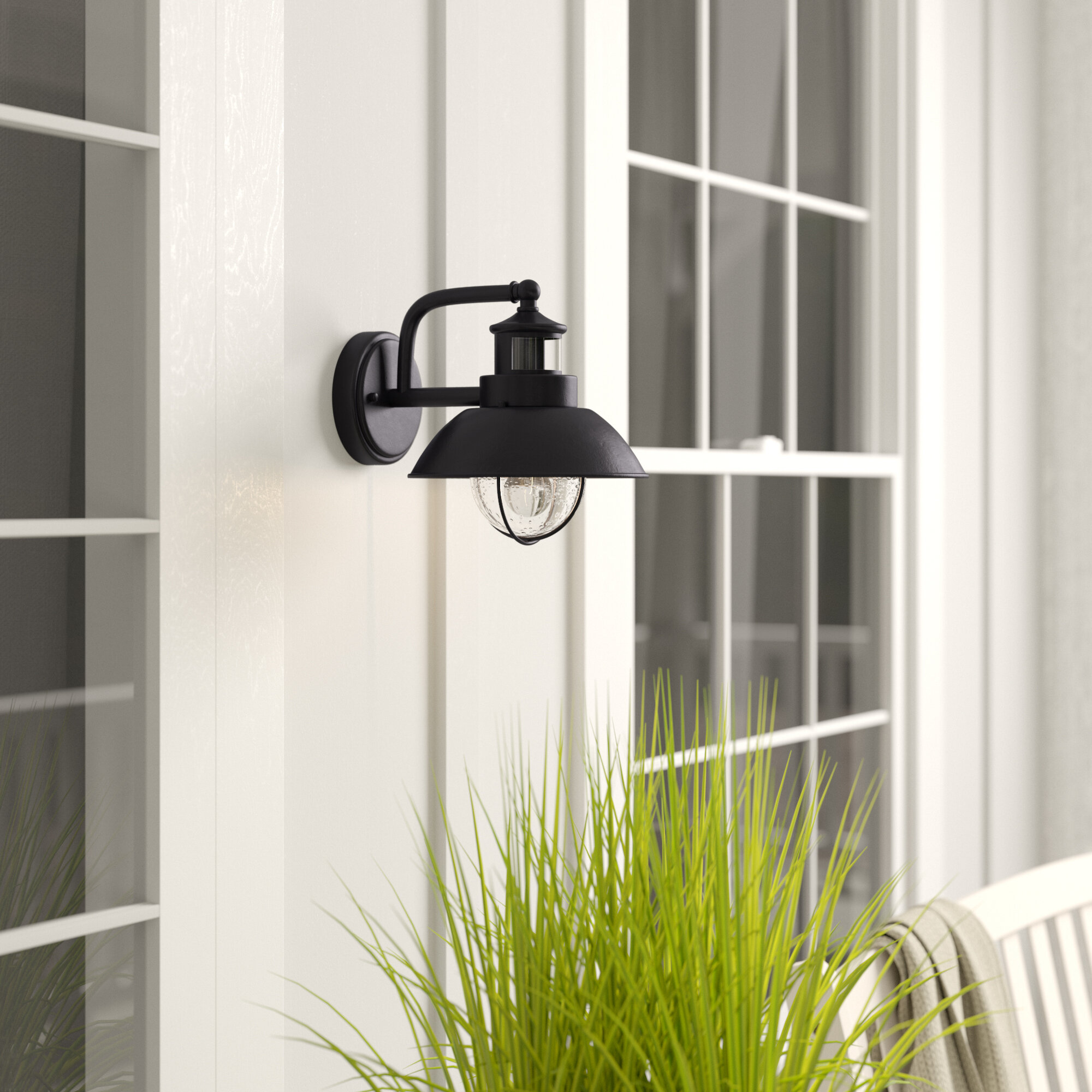 Beachcrest Home Archibald Dualux Outdoor Barn Light With Motion Sensor