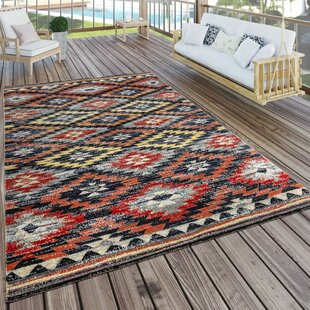 Aliyah Red Orange Black Rug